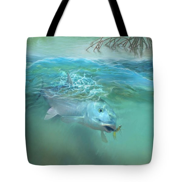 Bone Fish Tote Bag by Rob Corsetti