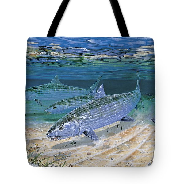 Bonefish Flats In002 Tote Bag by Carey Chen