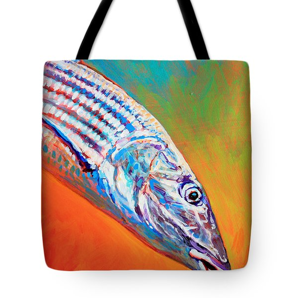 Bonefish Portrait Tote Bag by Mike Savlen