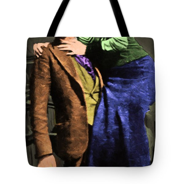 Bonnie and Clyde 20130515 long Tote Bag by Wingsdomain Art and Photography