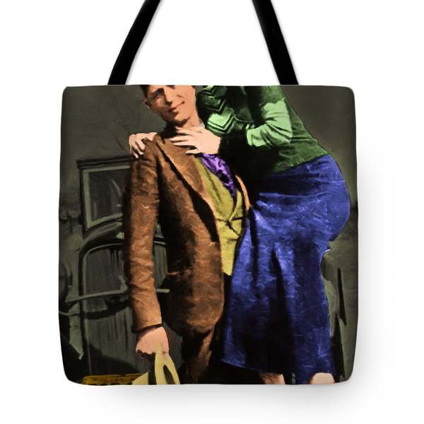 Bonnie and Clyde 20130515 Tote Bag by Wingsdomain Art and Photography
