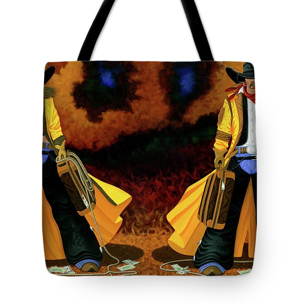 Bonnie And Clyde Tote Bag by Lance Headlee