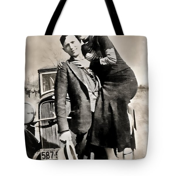 BONNIE and CLYDE - TEXAS Tote Bag by Daniel Hagerman