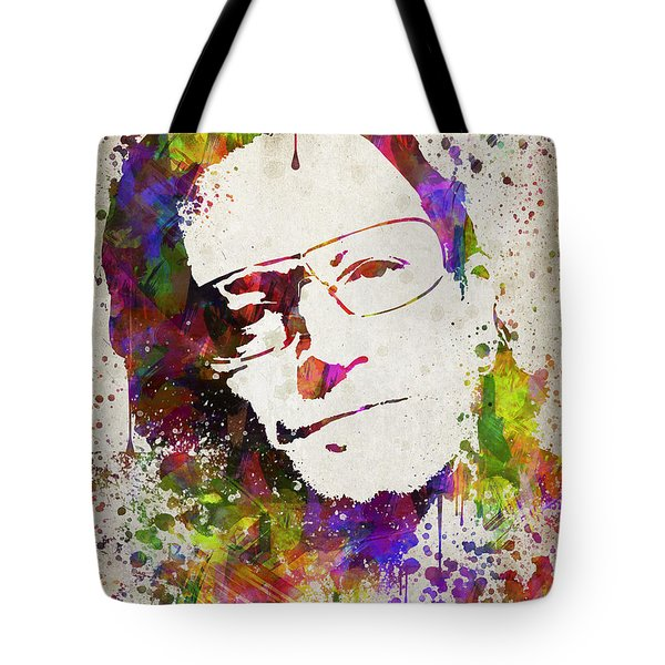 Bono In Color Tote Bag by Aged Pixel