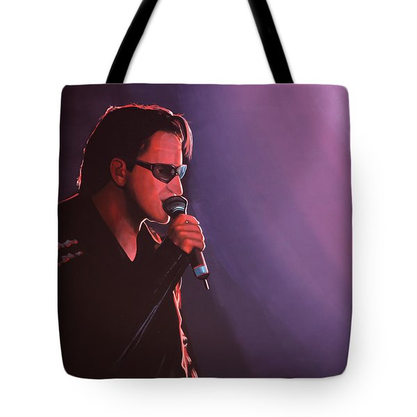 Bono U2 Tote Bag by Paul Meijering