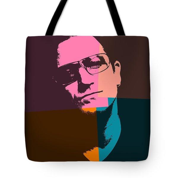 Bono Pop Art Tote Bag by Dan Sproul