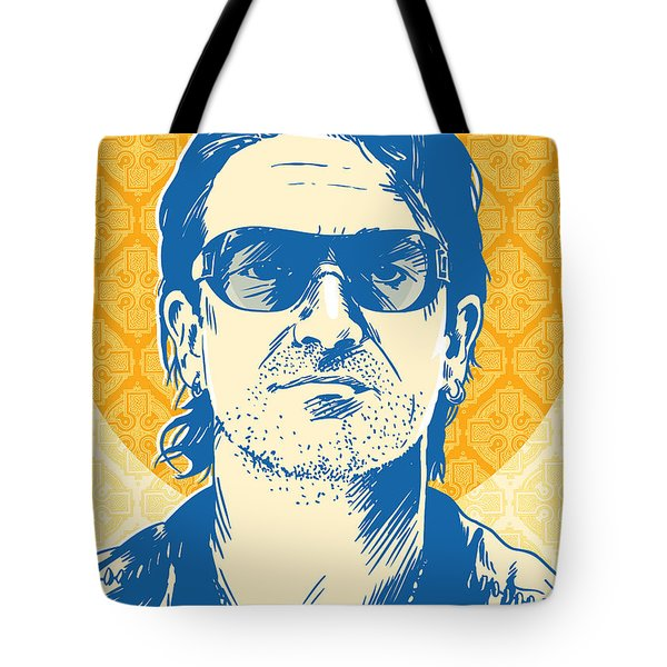 Bono Pop Art Tote Bag by Jim Zahniser