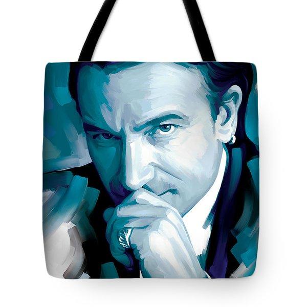 Bono U2 Artwork 4 Tote Bag by Sheraz A