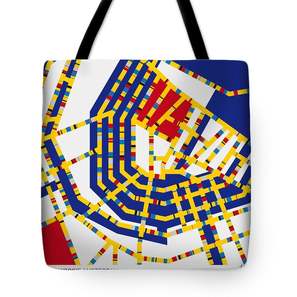 Boogie Woogie Amsterdam Tote Bag by Chungkong Art