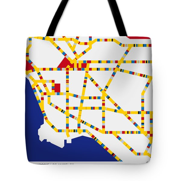Boogie Woogie Los Angeles Tote Bag by Chungkong Art