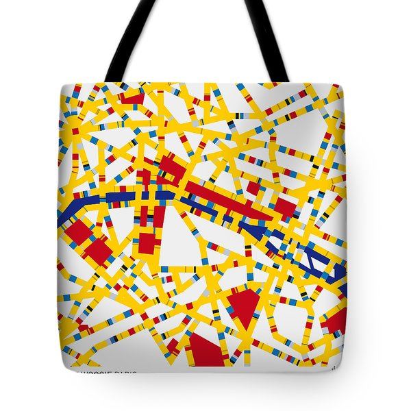 Boogie Woogie Paris Tote Bag by Chungkong Art