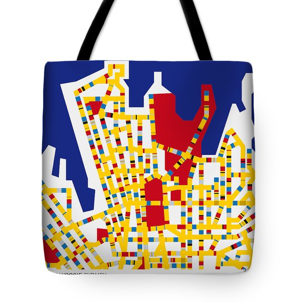Boogie Woogie Sydney Tote Bag by Chungkong Art