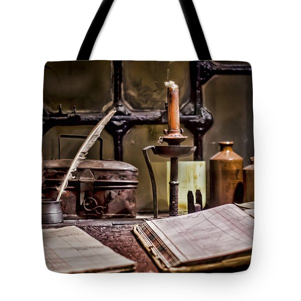 Book Keeper Tote Bag by Heather Applegate