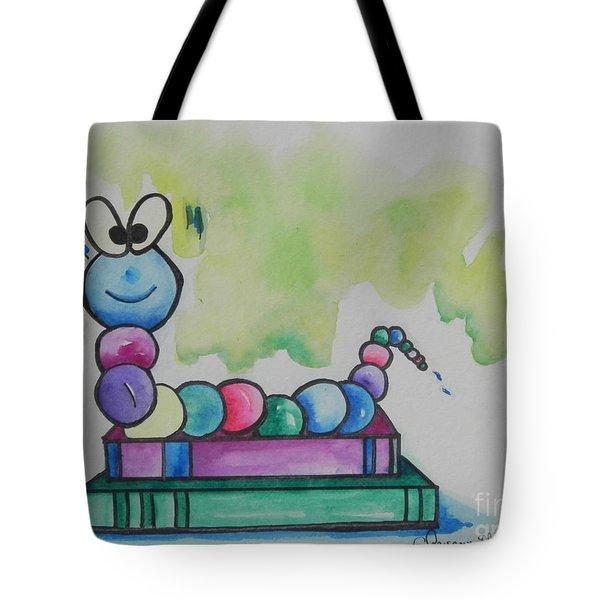 Book Worm Helps Children Read Tote Bag by Chrisann Ellis