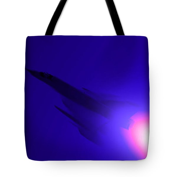 Boosted - Mirage - Blue Tote Bag by Marcello Cicchini