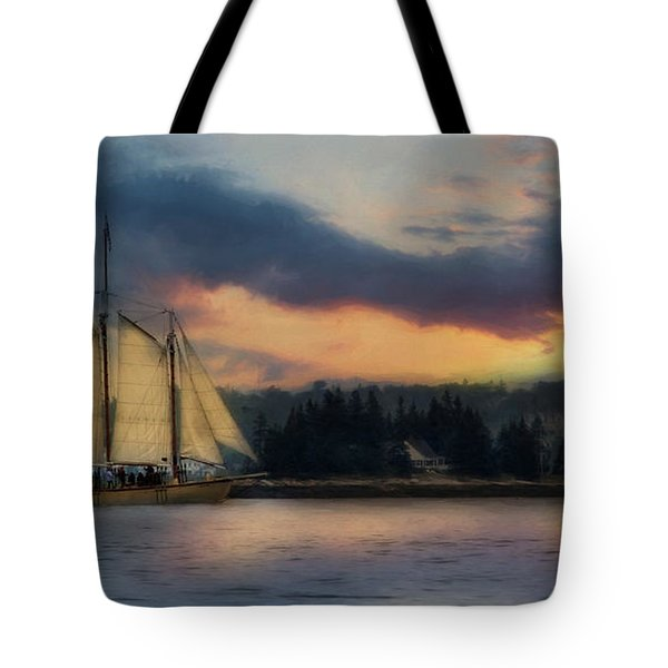 Boothbay Harbor Schooner Tote Bag by Lori Deiter