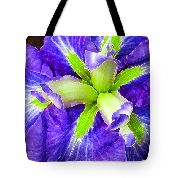 Boothbay Violet With Chartreuse Tote Bag by Bill Caldwell -        ABeautifulSky Photography