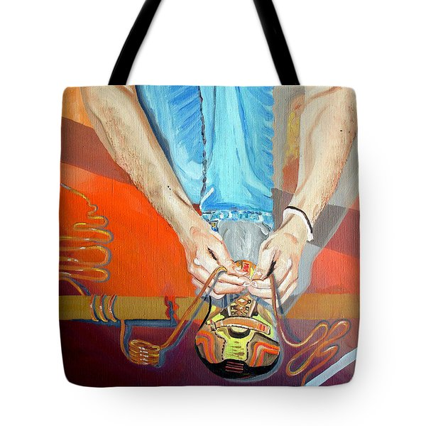 Bootlace Tote Bag by Daniel Janda