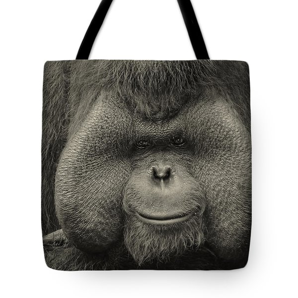 Bornean Orangutan II Tote Bag by Lourry Legarde