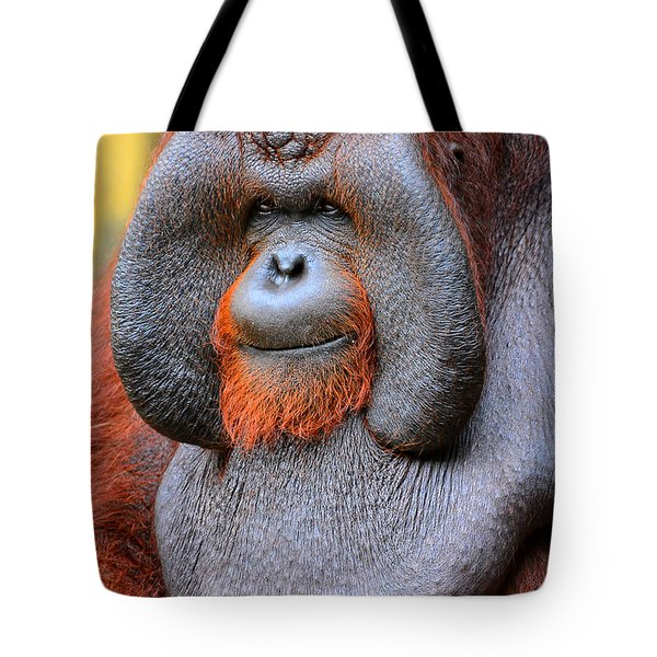 Bornean Orangutan Iv Tote Bag by Lourry Legarde