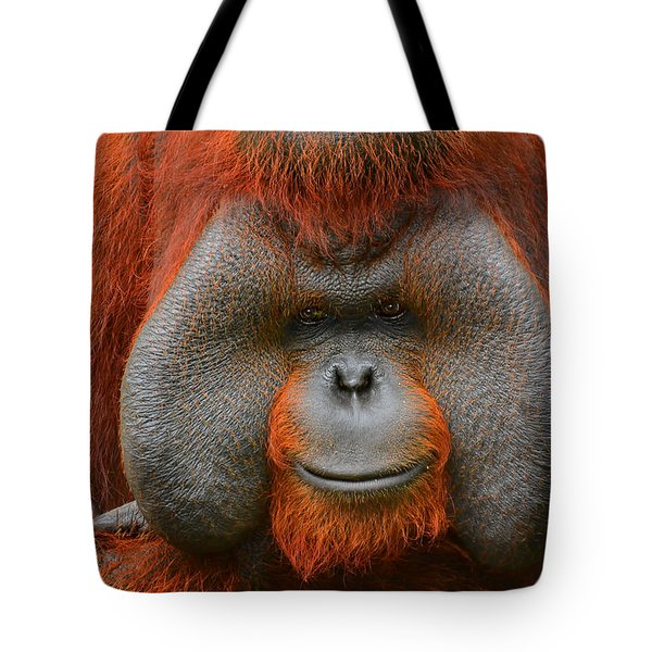Bornean Orangutan Tote Bag by Lourry Legarde