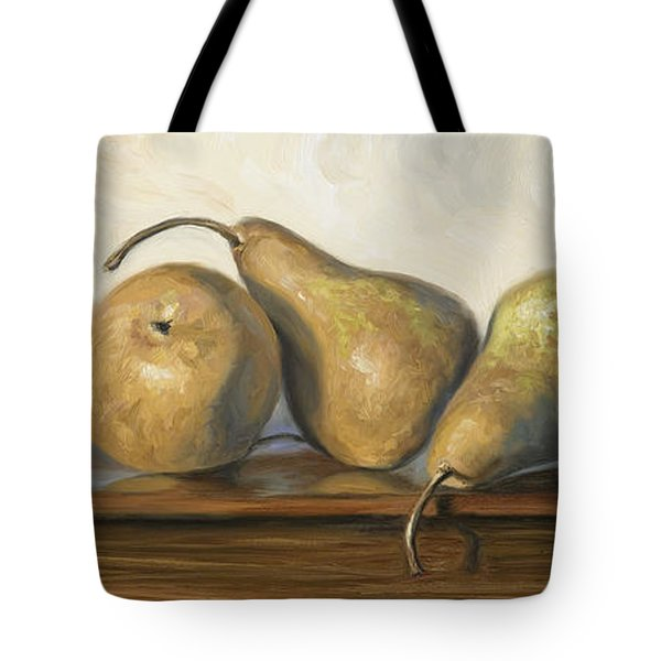 Bosc Pears Tote Bag by Lucie Bilodeau