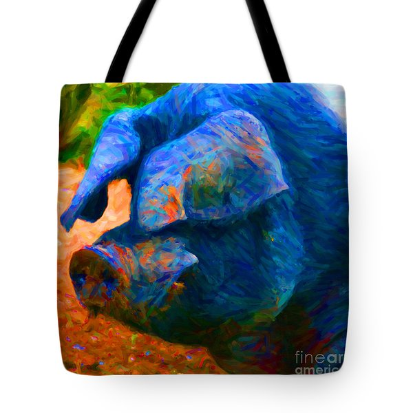 Boss Hog - 2013-0108 - Square Tote Bag by Wingsdomain Art and Photography