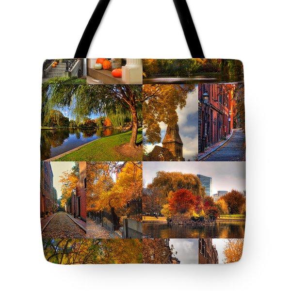 Boston Autumn Days Tote Bag by Joann Vitali