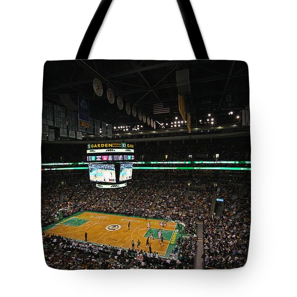 Boston Celtics Basketball Tote Bag by Juergen Roth
