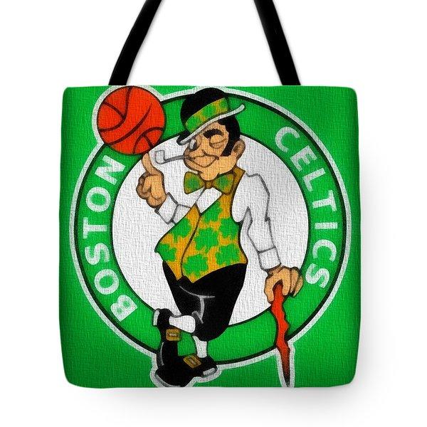 Boston Celtics Canvas Tote Bag by Dan Sproul