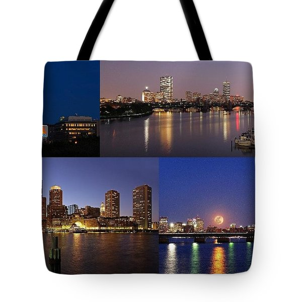 Boston City Skyline Tote Bag by Juergen Roth