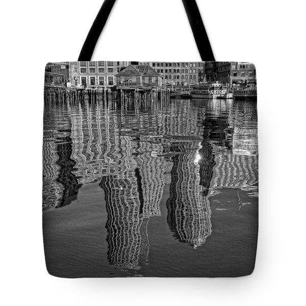 Boston Harbor Reflections Tote Bag by Joann Vitali