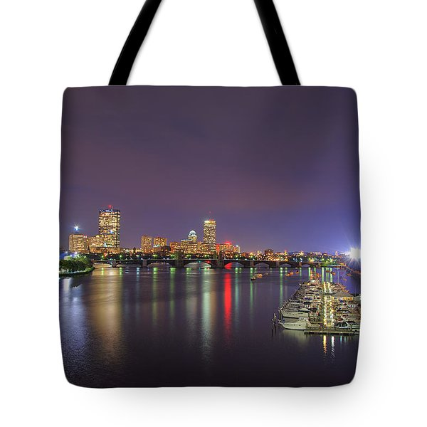 Boston Harbor Skyline Tote Bag by Joann Vitali