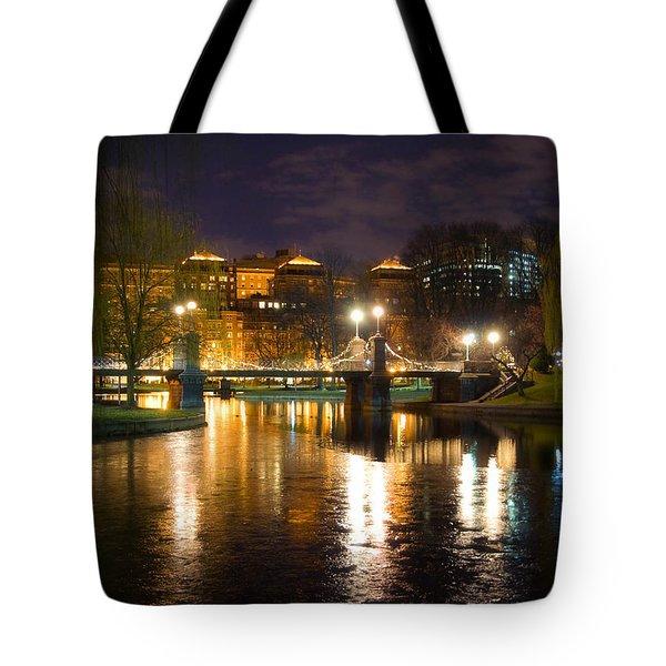 Boston Lagoon Bridge Tote Bag by Joann Vitali