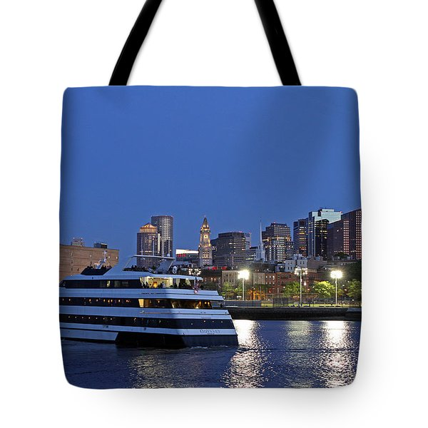 Boston Odyssey Cruise Ship Tote Bag by Juergen Roth