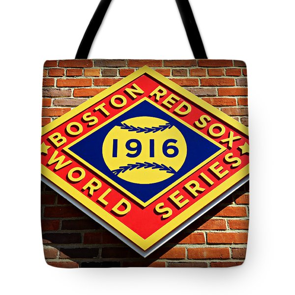 Boston Red Sox 1916 World Champions Tote Bag by Stephen Stookey