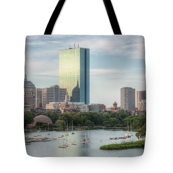 Boston Skyline I Tote Bag by Clarence Holmes