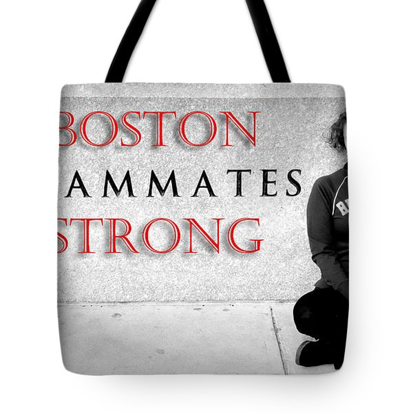 Boston Strong Tote Bag by Greg Fortier