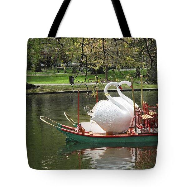 Boston Swan Boats Tote Bag by Barbara McDevitt