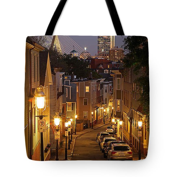 Boston View From Charlestown Tote Bag by Juergen Roth