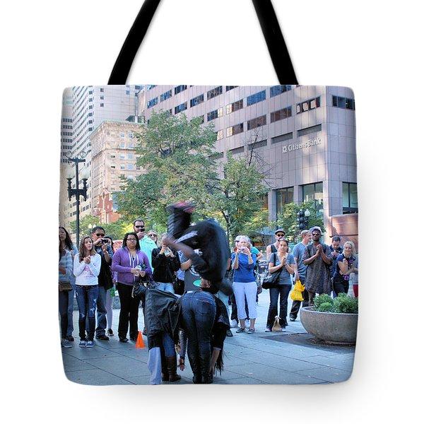 Bostonian Antics Tote Bag by Kristin Elmquist
