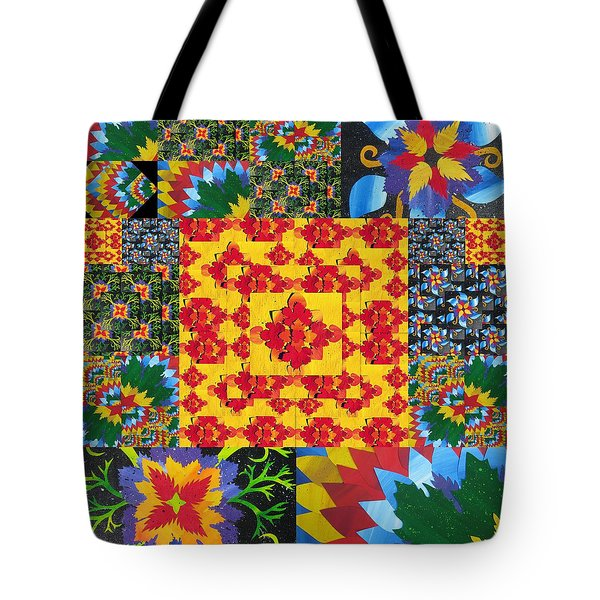 Botanic Gardens in Recycled Math Books Tote Bag by Cathy Jacobs