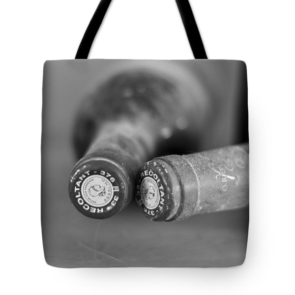 Bottle Necks in black and white Tote Bag by Nomad Art And  Design