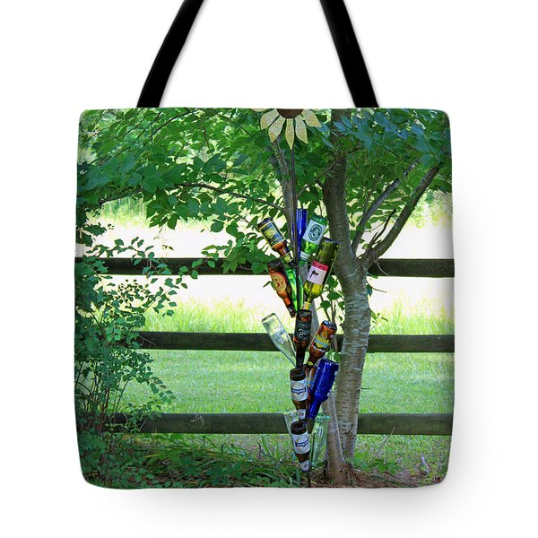 Bottle Tree Tote Bag by Suzanne Gaff