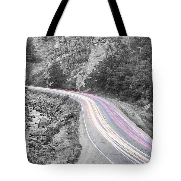 Boulder Canyon Drive And Selective Commute  Tote Bag by James BO  Insogna