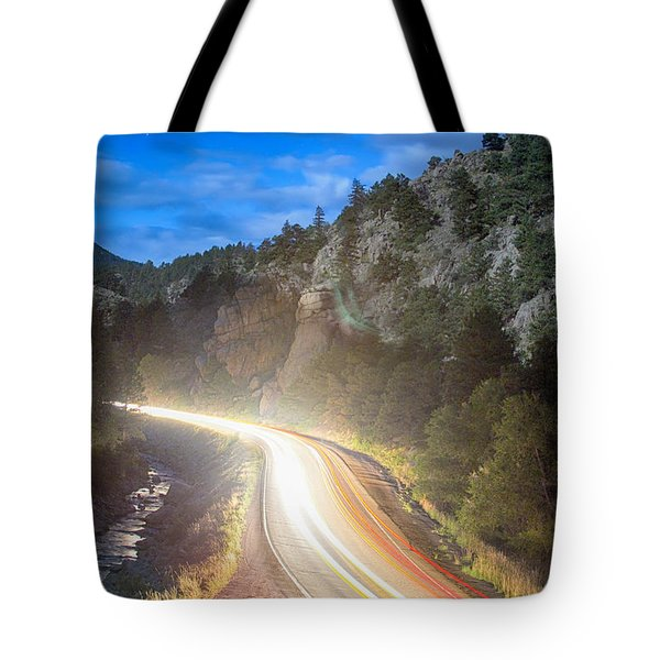 Boulder Canyon Neon Light  Tote Bag by James BO  Insogna