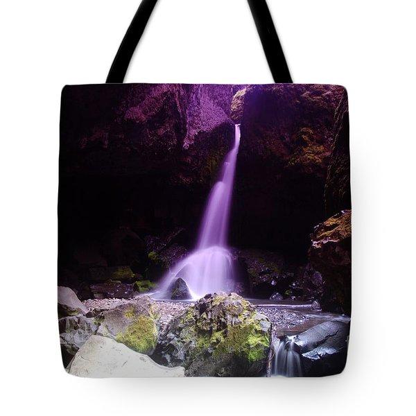 Boulder Cave Falls Tote Bag by Jeff  Swan