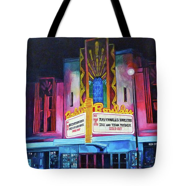 Boulder Theater Tote Bag by Tom Roderick