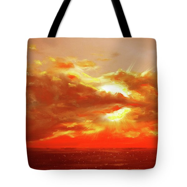 Bound Of Glory - Red Sunset  Tote Bag by Gina De Gorna