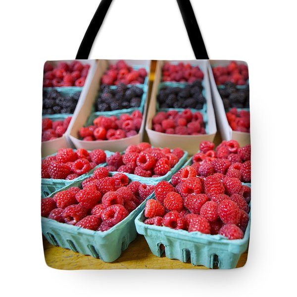 Bounty of Berries Tote Bag by Caitlyn  Grasso